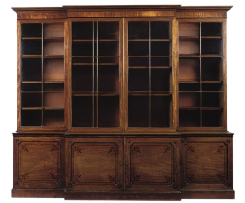 A REGENCY MAHOGANY AND EBONY-I