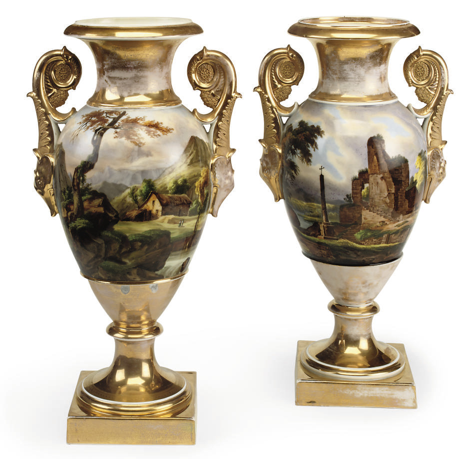 A PAIR OF PARIS PORCELAIN TWO-