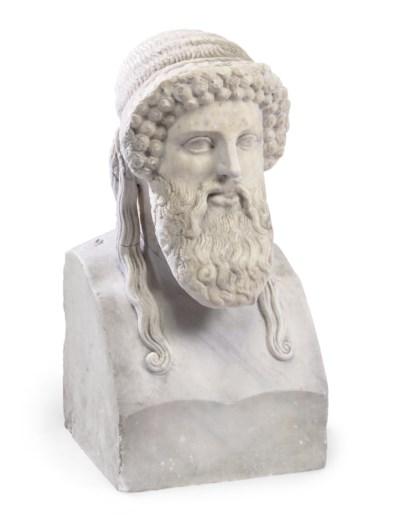 A ROMAN ARCHAISTIC MARBLE HERM