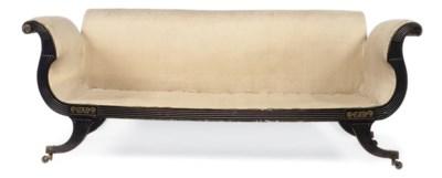 A REGENCY ORMOLU-MOUNTED EBONI