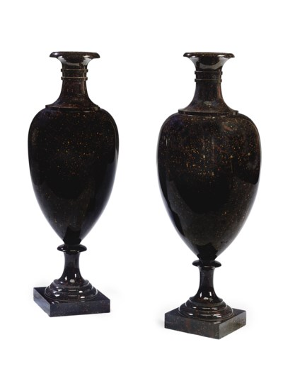 A NEAR PAIR OF SWEDISH PORPHRY