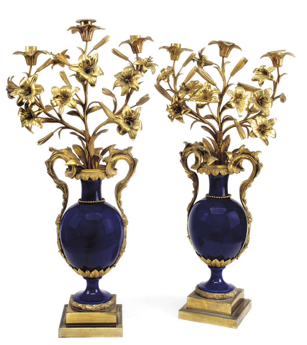A PAIR OF WILLIAM IV ORMOLU-MO