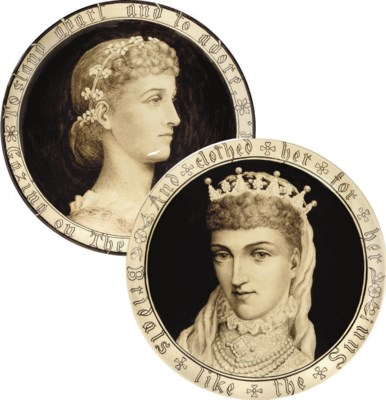 TWO MINTON WALL PLAQUES PAINTE