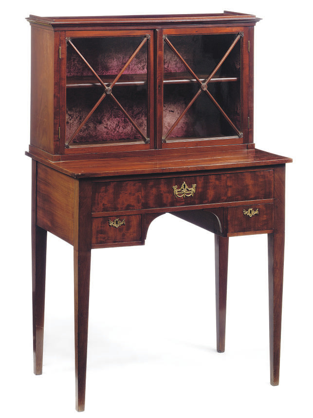 A DUTCH MAHOGANY VITRINE