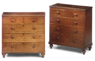 TWO REGENCY OAK MINIATURE CHES