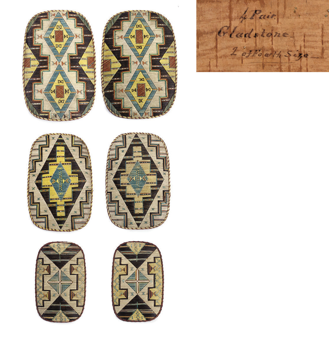A GROUP OF MICMAC QUILLWORK PA