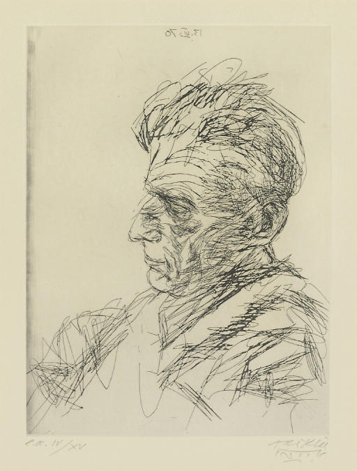 Samuel Beckett in profile (Coppel 10)