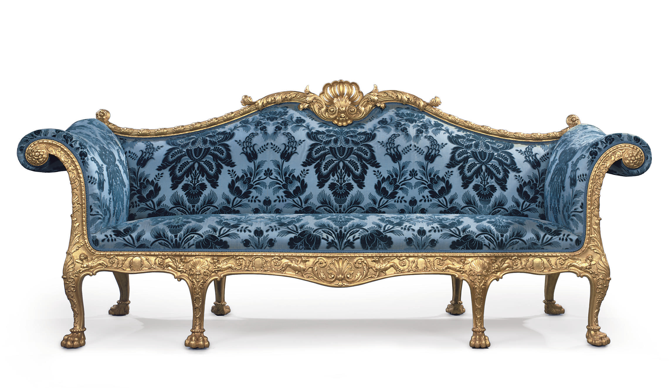 Tremendous A George Iii Giltwood Sofa Designed By Robert Adam And Machost Co Dining Chair Design Ideas Machostcouk