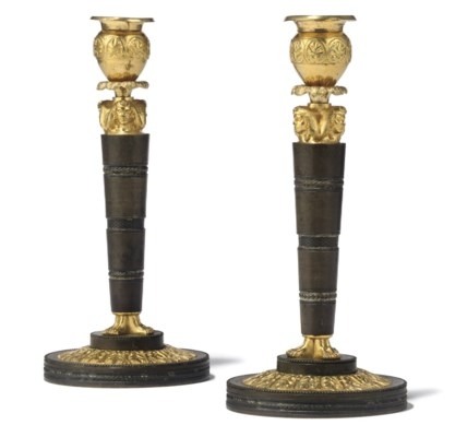 A PAIR OF RUSSIAN ORMOLU AND P