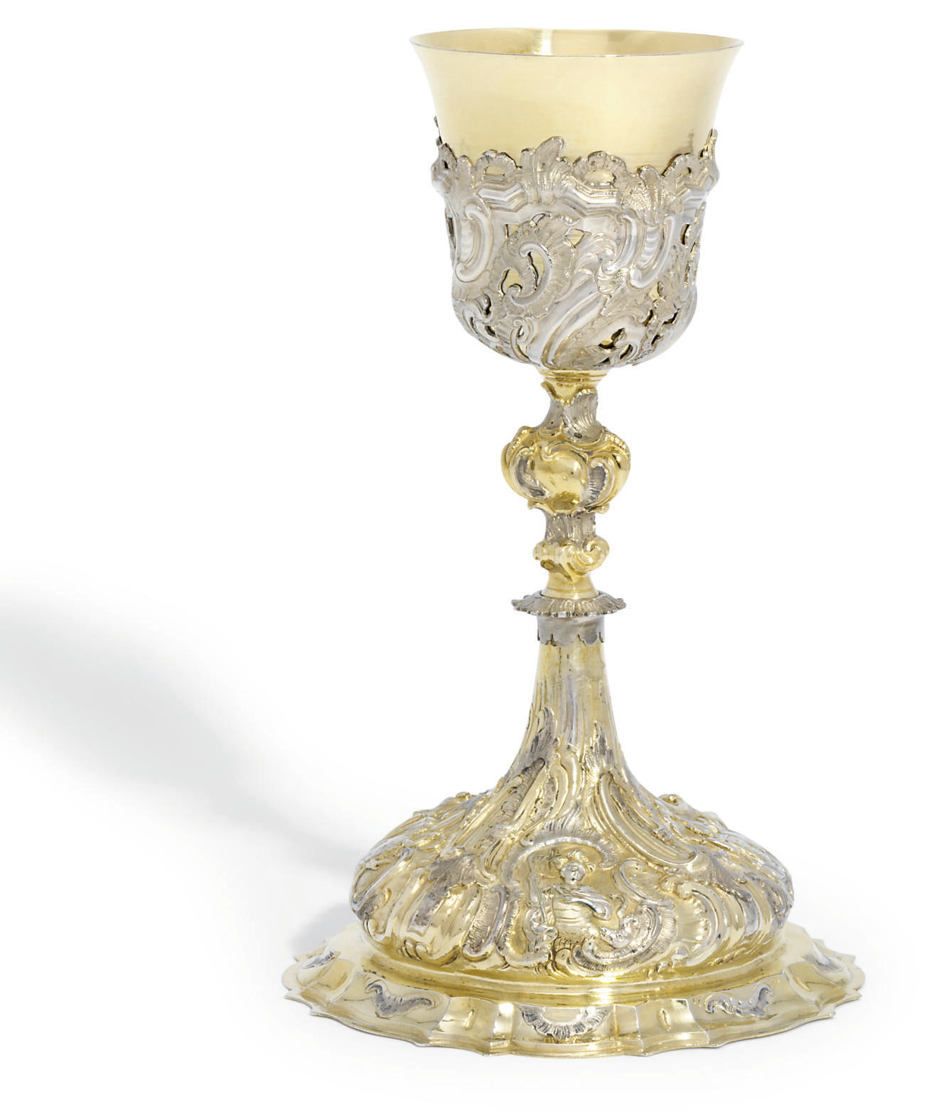 A german parcel gilt silver chalice mark of johann for Kolb augsburg