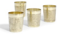 FOUR GERMAN SILVER-GILT BEAKERS