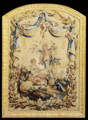 A LOUIS XV BEAUVAIS TAPESTRY P