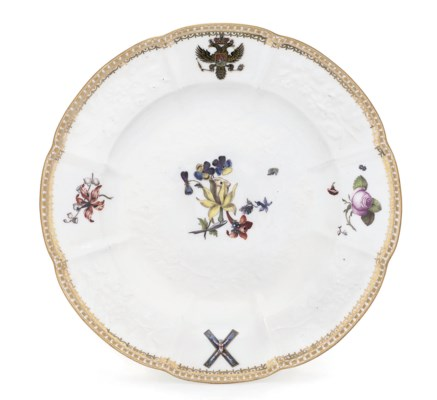 A MEISSEN ARMORIAL MARRIAGE PL