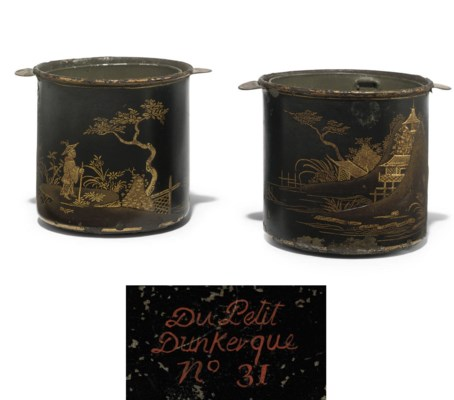 A PAIR OF FRENCH TOLE PEINTE B