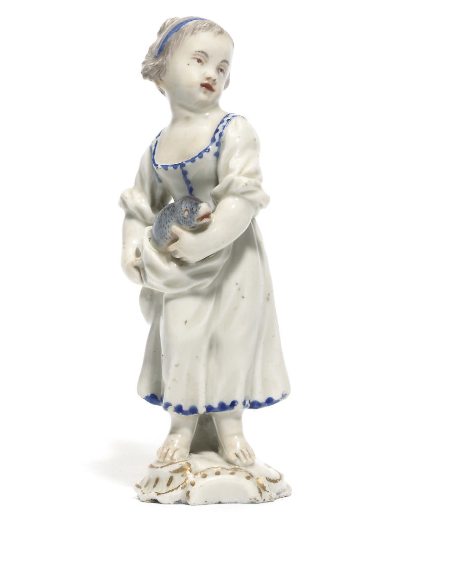 A LUDWIGSBURG FIGURE OF A GIRL