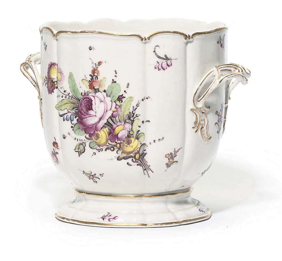 A NYMPHENBURG TWO-HANDLED CYLI