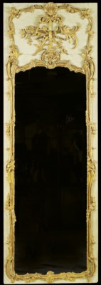 A LOUIS XV CARVED, GREEN-PAINT