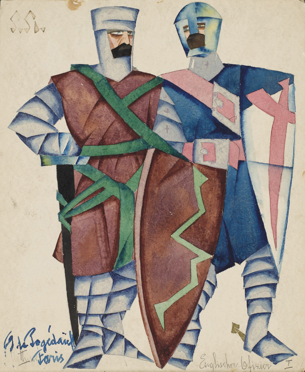 Costume designs for Shakespeare's The life and death of King John: Two English Knights