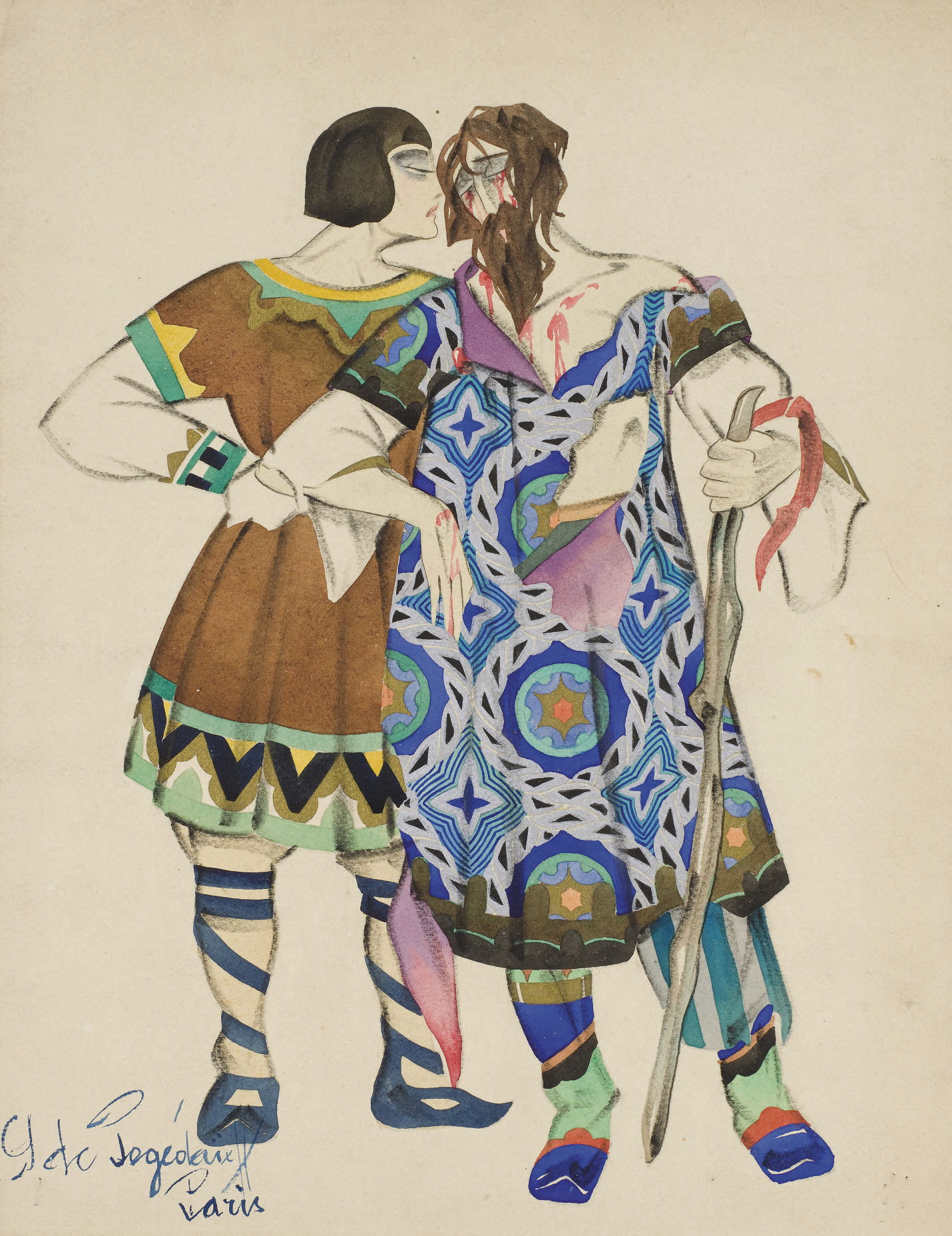 Costume designs for Rimsky-Korsakov's The Legend of the Invisible City of Kitezh and the Maiden Fevroniya: Fyodor Poyarok and Page