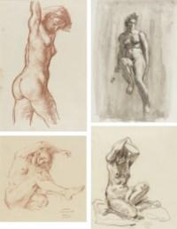 Four studies of female nudes