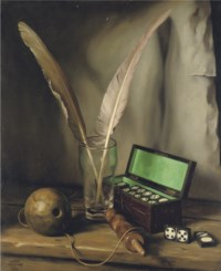 Still life with dominoes