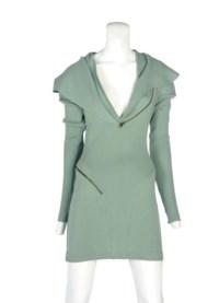 AZZEDINE ALAÏA (B.1940) A RARE HOODED DRESS