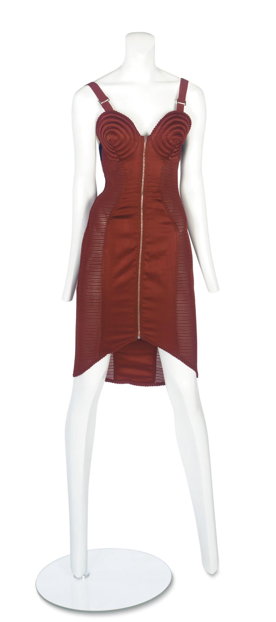 JEAN-PAUL GAULTIER (B.1952) A RARE 'CORSET' COCKTAIL DRESS