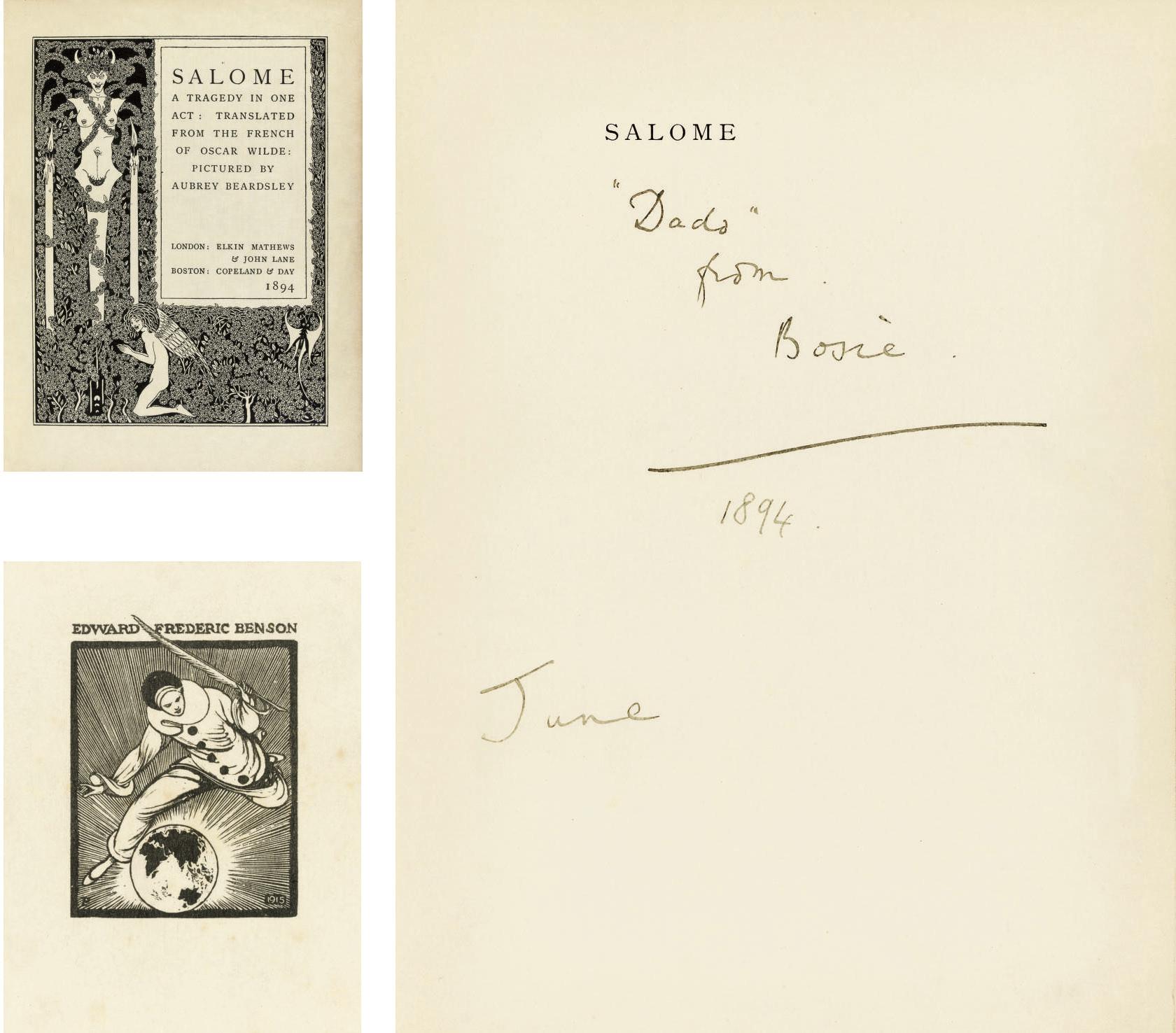 WILDE, Oscar (1854-1900) & Aub