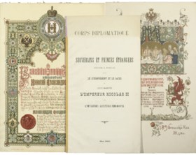 NICHOLAS II -- [A collection of menus and programmes, many o