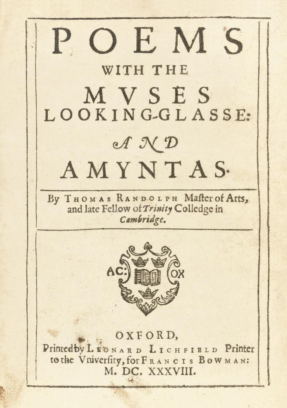RANDOLPH, Thomas (1605-1635).