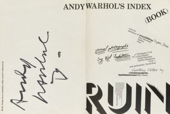 WARHOL, Andy (1928-87) and oth