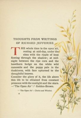 JEFFERIES, Richard.  Thoughts