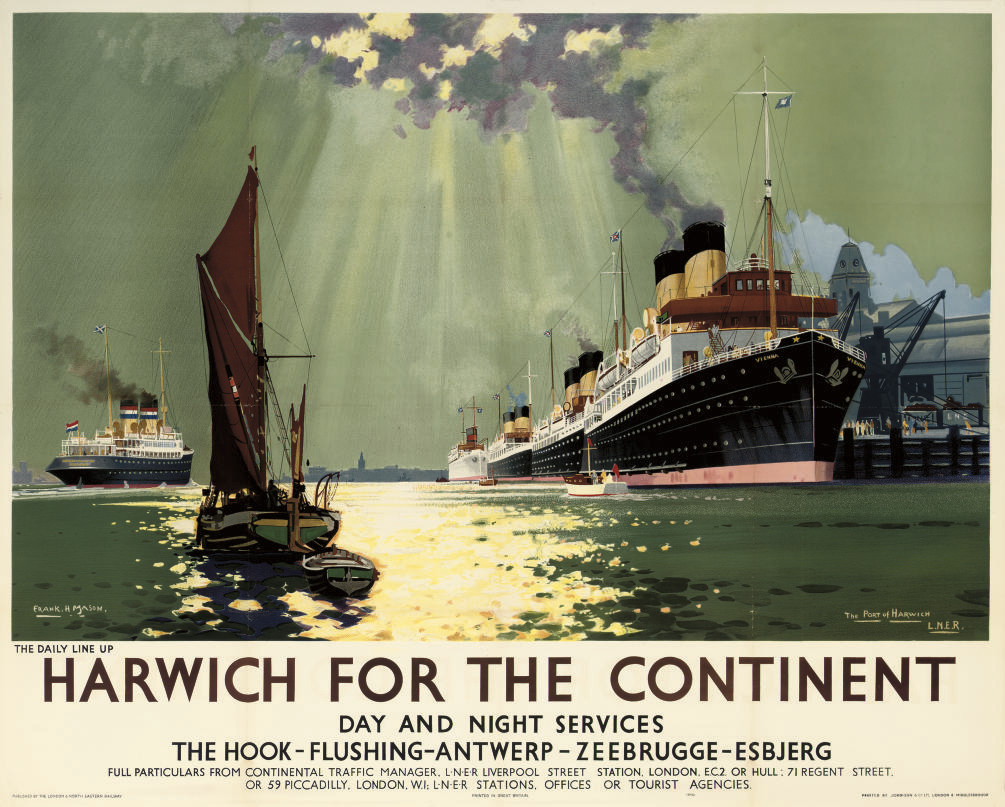 "HARWICH FOR THE CONTINENT, ""VIENNA"""