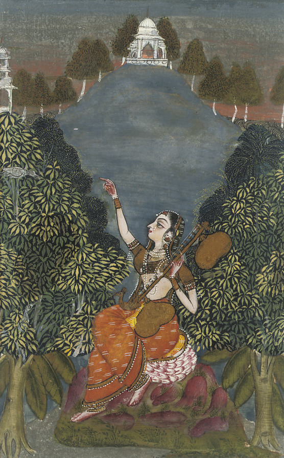LADY WITH VINA, RAJASTHAN, 174