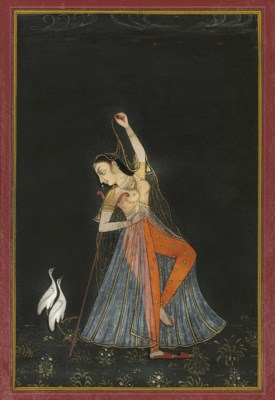 DANCING LADY WITH CRANES, RAJA