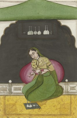 LADY IN A PAVILION, RAJASTHAN,