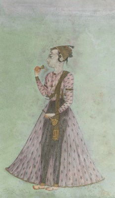 YOUNG NOBLE DRINKING, RAJASTHA