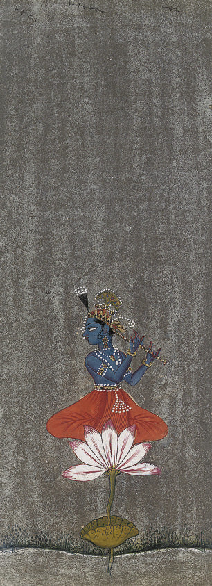 KRISHNA FLUTING ON LOTUS, BIKA