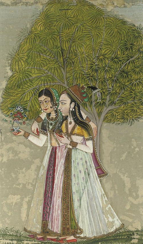 TWO LADIES WALKING, RAJASTHAN,