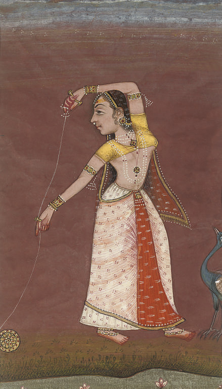 LADY WITH YOYO AND PEACOCK, RA
