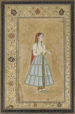 GIRL IN A TIERED SKIRT, MUGHAL