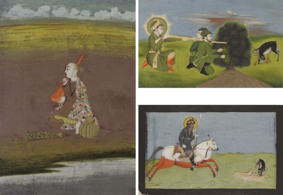 A GROUP OF MUGHAL INDIAN PAINT