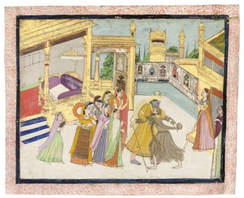 KRISHNA AND A BEGGAR, KANGRA,