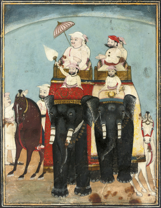 AN ELEPHANT PROCESSION, KOTAH,