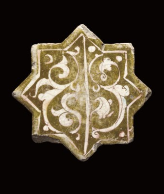 A KASHAN LUSTRE POTTERY STAR T