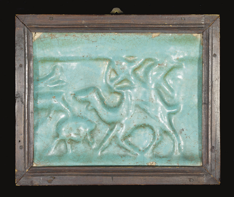 A TIMURID TURQUOISE MOULDED TI