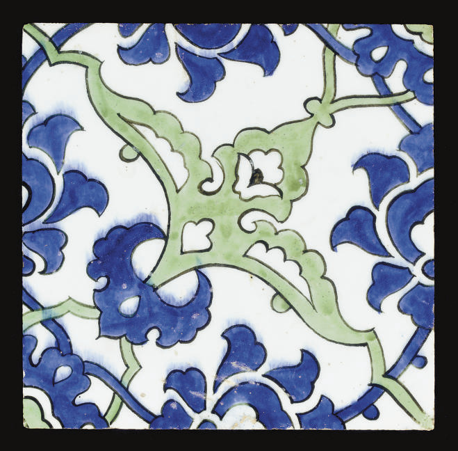 AN OTTOMAN TILE, DOME OF THE R
