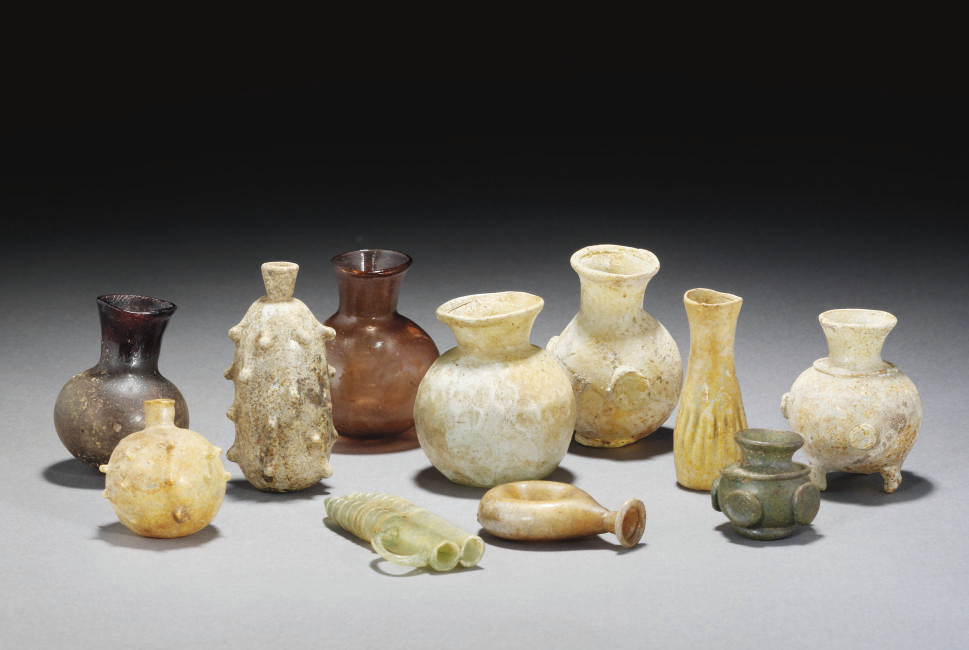 A GROUP OF EARLY ISLAMIC GLASS