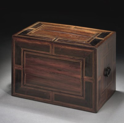 A PORTUGUESE INLAID CHEST, CEY