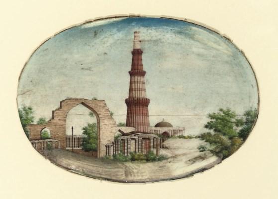 A VIEW OF THE QUTB MINAR, DELH